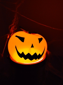 Calabaza Halloween iluminada